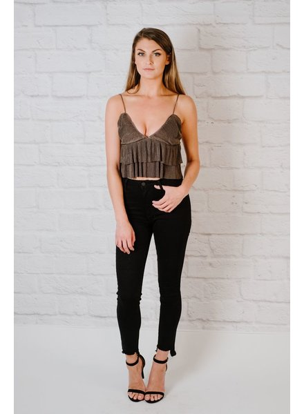 Crop Double Flare Top