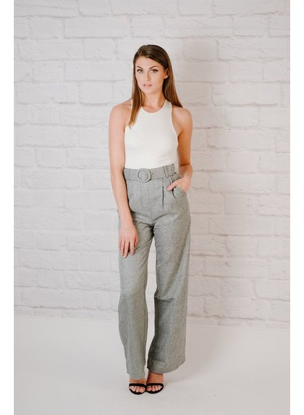 Pants Belted Tweed Pant