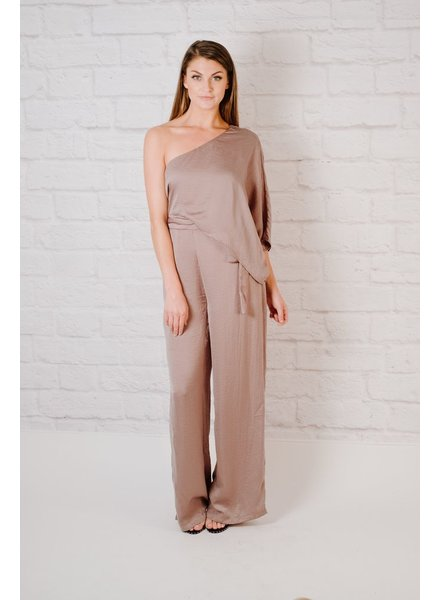 Jumpsuit Flirty One Shoulder Jumpsuit