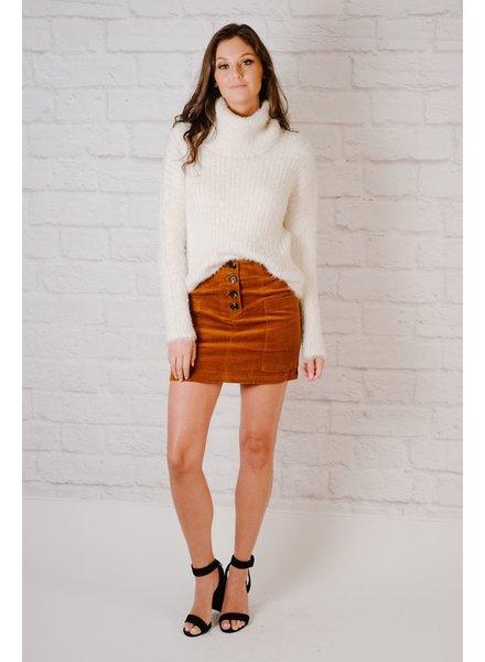 Skirt Rust Cord Mini