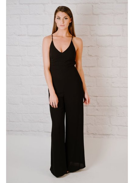 Jumpsuit Strappy Bare Back Jumpsuit
