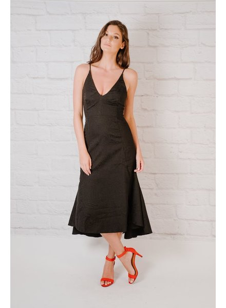 Maxi Textured Fit & Flare Dress