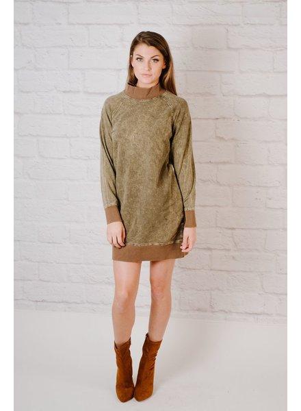 Mini High Neck Sweatshirt Dress