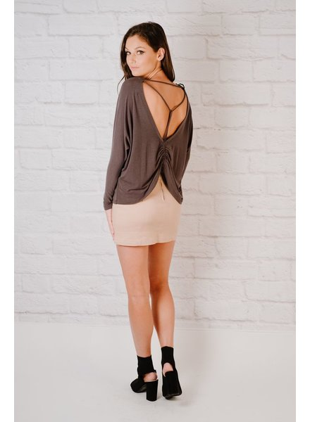 Knit Strappy Back T-Shirt