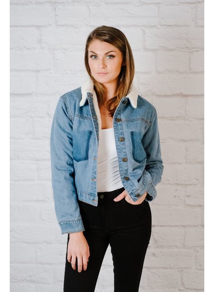 Lightweight Sherpa Denim Jacket