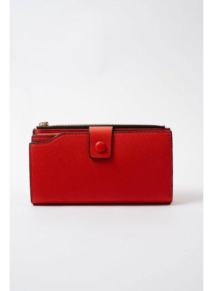 Wallet Red Bi-Fold Wallet