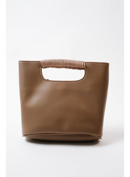 Cross-body Taupe Square Crossbody