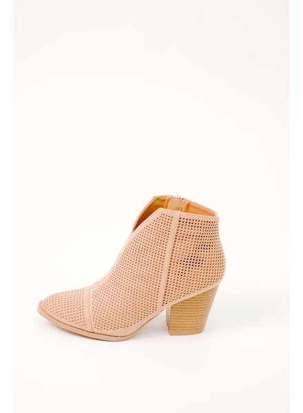 Bootie Perforated V-Cut Bootie