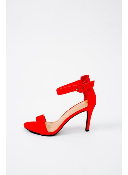 Pump Red Strappy Pump