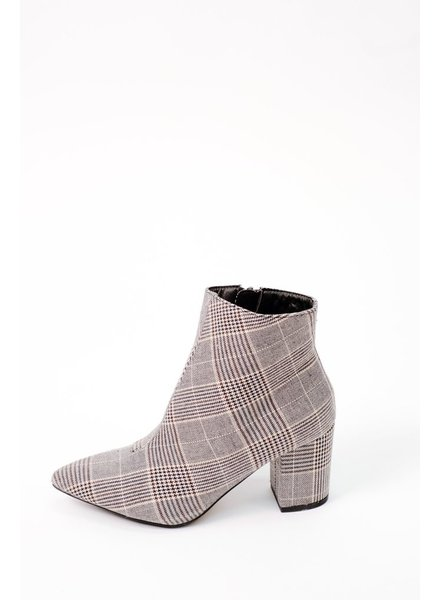 Bootie Houndstooth Plaid Bootie