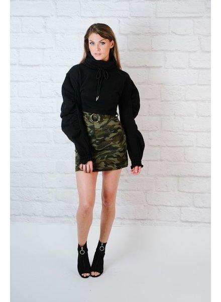 Skirt Camo HR Belted Skirt