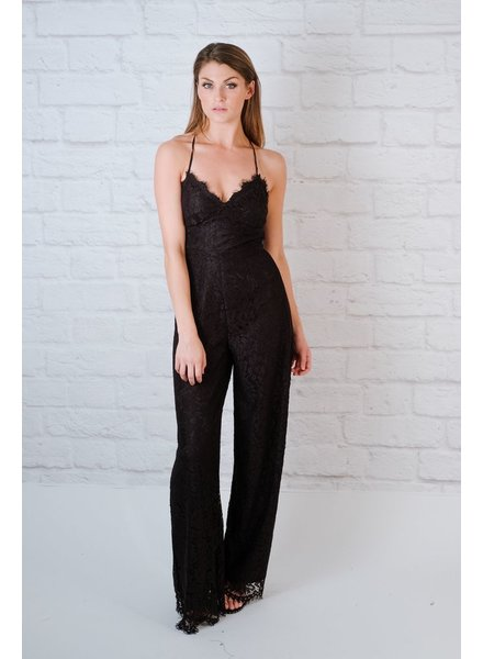 Jumpsuit Lace Overlay Jumpsuit