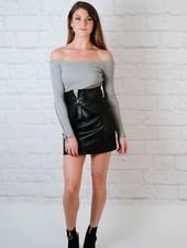Skirt Leather Mini Skirt