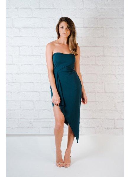 Dressy Teal Sweetheart Dress