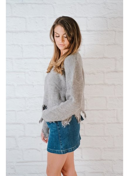 Sweater Frayed Edge Knit
