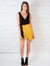 Skirt Mustard suede mini