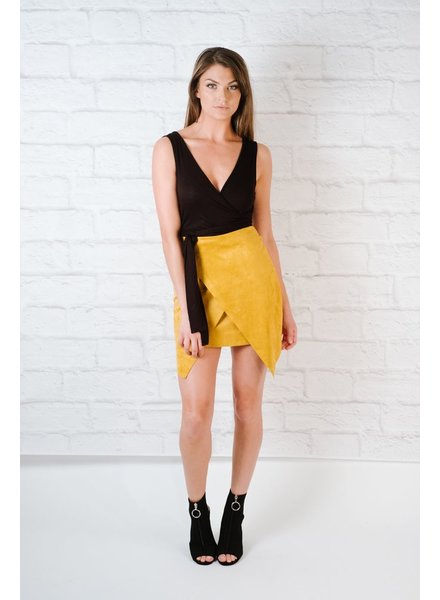 Skirt Mustard suede mini