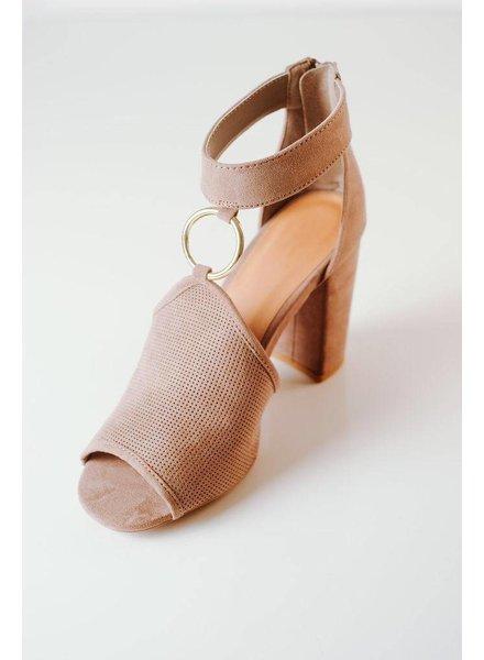 Sandal Taupe O-Ring Heel