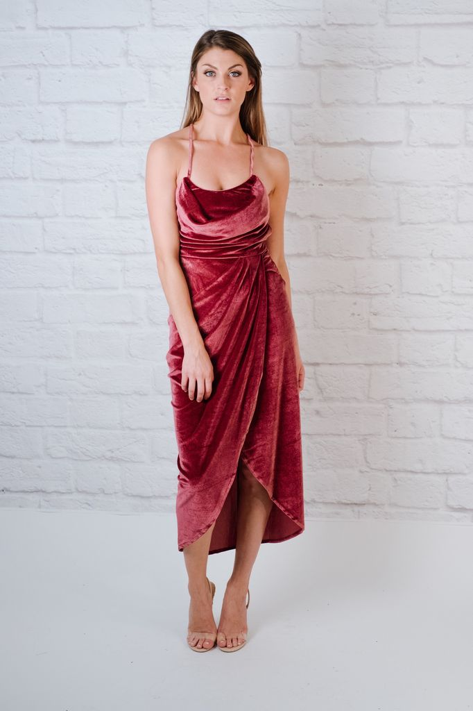 Midi Velvet Midi Dress