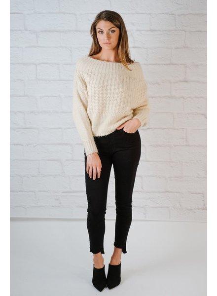 Sweater Fuzzy cropped knit