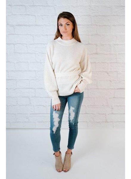 Sweater Open Back Knit