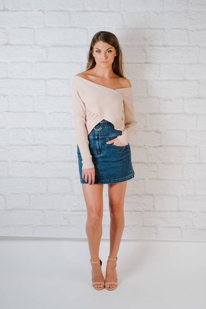 Sweater Cross Front Knit