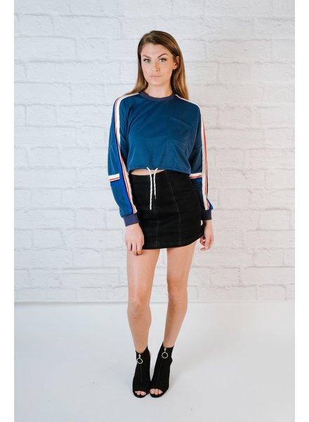 Sweatshirt Cropped Drawstring Sweatshirt