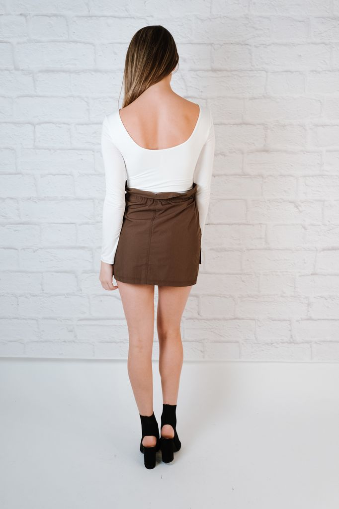 Bodysuit White Scoop Back Bodysuit