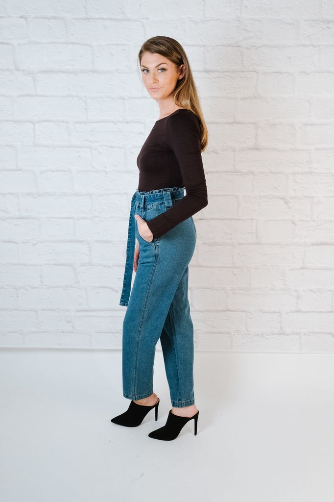 Jeans Belted mom jeans