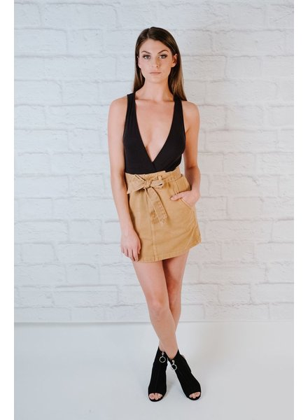 Skirt Tie Waist Cargo Skirt