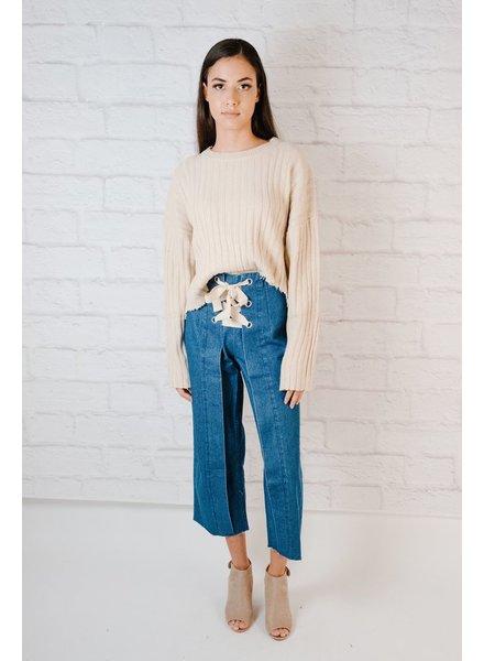 Sweater Destroyed Hem Knit