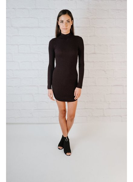 Mini Mock Neck Knit Dress