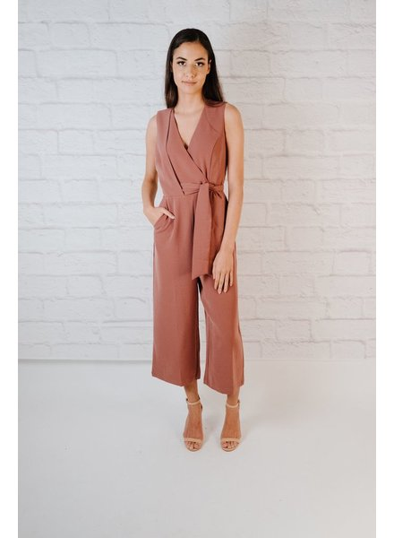 Jumpsuit Cropped Wide Leg Jumpsuit
