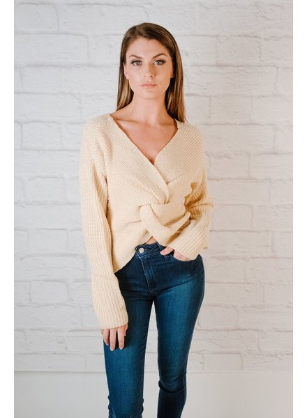 Sweater Twist Back Knit