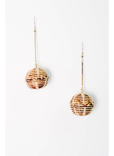Trend Woven Ball Trend Earrings