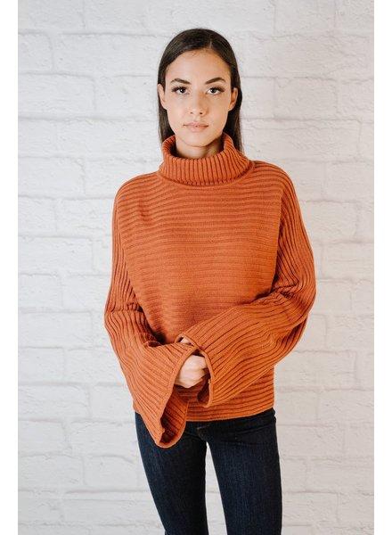 Knit Rust Bell Sleeve Knit