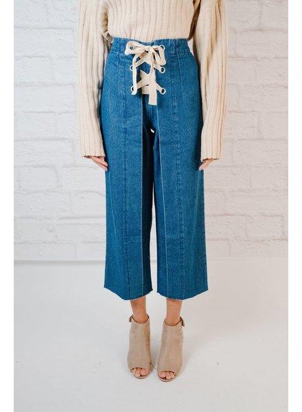 Pants Laced Denim Pant