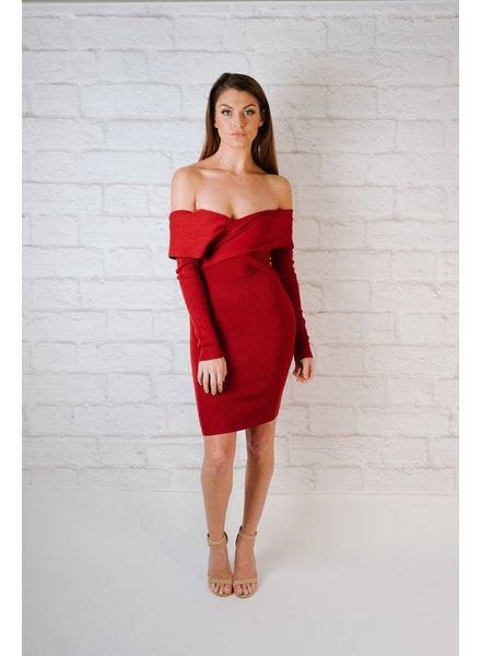Mini Crossed OTS Dress