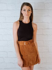Skirt Camel Corduroy Mini