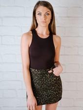Skirt Leopard Felt Mini