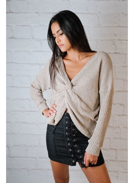 Sweater Lightweight Twist Back Knit