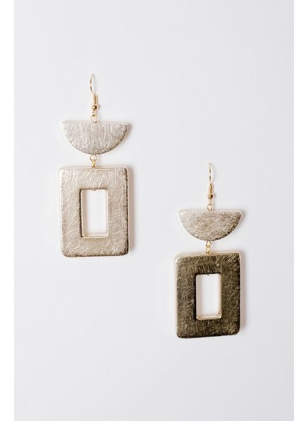 Trend Brushed Cutout Earrings