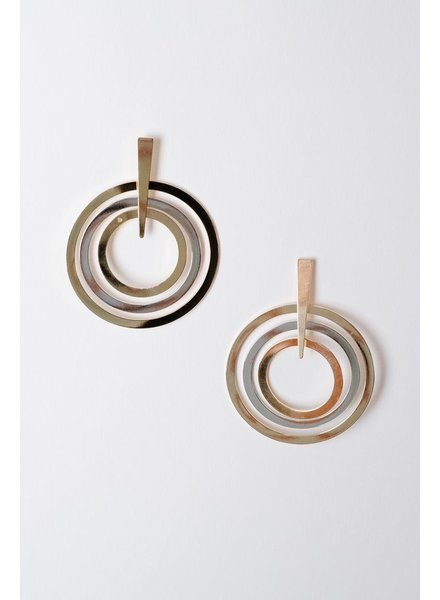 Trend Interlocking Circle Earrings