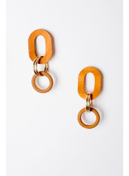 Trend Wooden O Drop Earrings