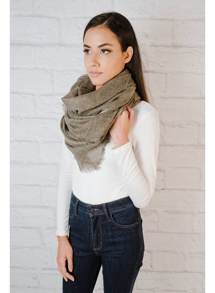 Scarf Brown Knit Oblong Scarf
