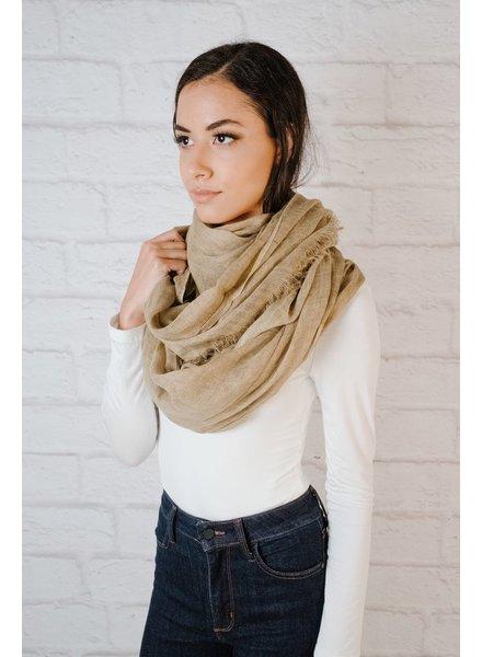 Scarf Tan Knit Oblong Scarf