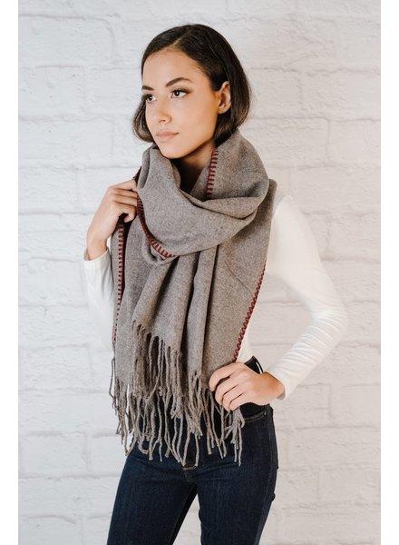 Scarf Contrast Threaded Knit Scarf