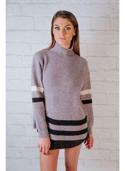 Knit Contrast Striped Knit