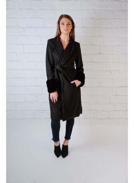 Long Fur Cuff Trench