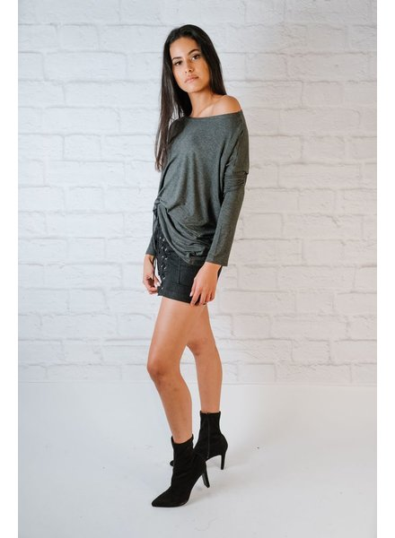 T-shirt Charcoal Bamboo Top